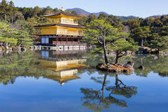 Kinkaku-ji called  Golden Pavilion. Is a Zen Buddhist temple with reflection ,Kyoto, Japan Stock Photos