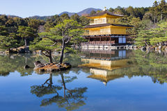 Kinkaku-ji called  Golden Pavilion. Is a Zen Buddhist temple in traditional Japanese garden Kyoto, Japan Stock Photo