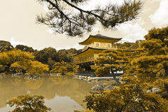 Kinkaku-ji de oro Imagen de archivo