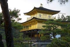 Kinkaku-ji den guld- paviljongen i Kyoto Royaltyfri Fotografi