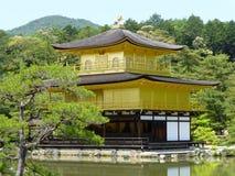 Kinkaku-ji - den guld- templet, Kyoto, Japan Arkivbilder