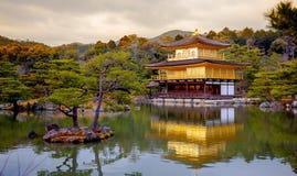 Kinkaku-ji - der Tempel des goldenen Pavillons Lizenzfreies Stockbild