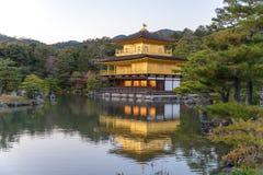 Kinkaku-ji the Golden Pavilion in Autumn season, Japan Stock Image