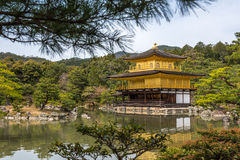 Kinkaku-ji, the Golden Pavilion, Buddhist temple in Kyoto, Japan Royalty Free Stock Photography