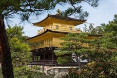 Kinkaku-ji, the Golden Pavilion, Buddhist temple in Kyoto, Japan Royalty Free Stock Image