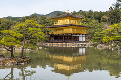 Kinkaku-ji, the Golden Pavilion, Buddhist temple in Kyoto, Japan Stock Image