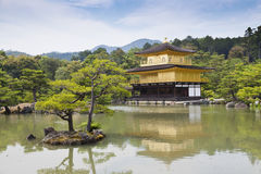 Kinkaku-ji, the Golden Pavilion, The famous buddhist temple in Kyoto, Japan Stock Photo
