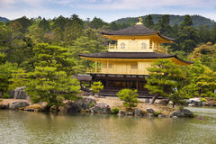 Kinkaku-ji, the Golden Pavilion, The famous buddhist temple in Kyoto, Japan. Kinkaku-ji, the Golden Pavilion, The famous buddhist temple in Kyoto Royalty Free Stock Images
