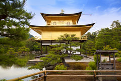 Kinkaku-ji, the Golden Pavilion, The famous buddhist temple in Kyoto, Japan Stock Image