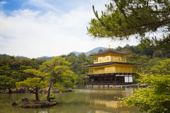 Kinkaku-ji, the Golden Pavilion, The famous buddhist temple in Kyoto, Japan Stock Photos