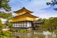 Kinkaku-ji, the Golden Pavilion, The famous buddhist temple in Kyoto, Japan stock photography