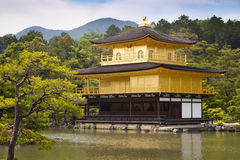 Kinkaku-ji, the Golden Pavilion, The famous buddhist temple in Kyoto, Japan Royalty Free Stock Images