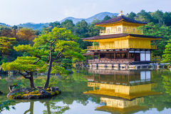 Kinkaku-ji, The Golden Pavilion in Kyoto, Japan Stock Photography