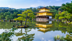 Kinkaku-ji, The Golden Pavilion in Kyoto, Japan stock image