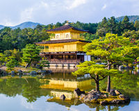 Kinkaku-ji, The Golden Pavilion in Kyoto, Japan Royalty Free Stock Photography