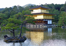 Kinkaku-ji, the Golden Pavilion and lake Stock Images
