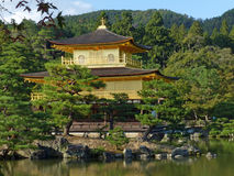 Kinkaku-ji, the Golden Pavilion. Probably the most famous of Kyoto's thousands of temples Stock Images