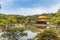 Kinkaku-ji, the Golden Pavilion in spring, Buddhist temple in Ky Royalty Free Stock Image
