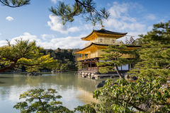 Kinkaku-ji, the Golden Pavilion, a Zen Buddhist temple in Kyoto, Royalty Free Stock Images