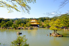 Kinkaku-ji, the Golden Pavilion, a Zen Buddhist temple in Kyoto, Royalty Free Stock Image