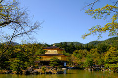 Kinkaku-ji, the Golden Pavilion, a Zen Buddhist temple in Kyoto, Stock Photo