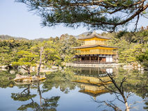 The Kinkaku-ji golden temple. In Kyoto, Japan Stock Image