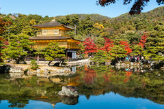 Kinkaku-ji, il tempio del padiglione dorato a Kyoto Immagine Stock Libera da Diritti