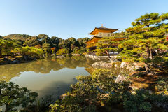 Kinkaku-ji, il tempio del padiglione dorato a Kyoto Fotografie Stock Libere da Diritti