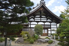 Kinkaku-ji. Japan House in Kinkaku-ji temple: garden Royalty Free Stock Photo
