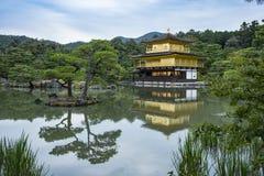 Kinkaku-ji temple Kyoto Japan. Kinkaku-ji, literally `Temple of the Golden Pavilion`, officially named Rokuon-ji, literally `Deer Garden Temple`, is a Zen Royalty Free Stock Photo