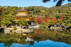 Kinkaku-ji, o templo do pavilhão dourado em Kyoto Imagem de Stock Royalty Free