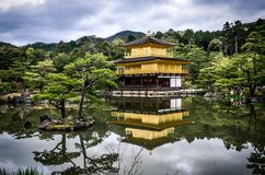 Kinkaku-Ji pagoda, Kyoto, Japan Stock Photo