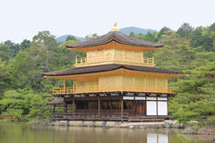 Kinkaku-ji or Rokuon-ji, a famous Zen Buddhist Temple, in Kyoto, Royalty Free Stock Photos