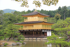 Kinkaku-ji or Rokuon-ji, a famous Zen Buddhist Temple, in Kyoto,. Japan Stock Photography
