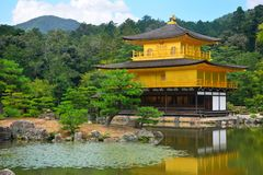 Kinkaku-ji, Rokuon-jitempel Lizenzfreie Stockfotografie