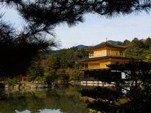 Kinkaku-Ji tempel Royaltyfri Fotografi