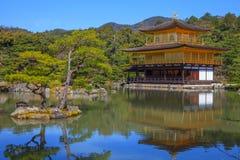 Kinkaku-ji, Tempel des goldenen Pavillons Stockfotografie