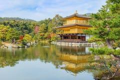 Kinkaku-ji tempel i Kyoto Arkivfoto