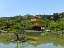 Kinkaku-ji, tempio del Pavillion dorato, Kyoto, Giappone Fotografie Stock Libere da Diritti