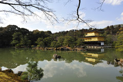 Kinkaku-Ji Temple. One of the famous travel destinations in Kyoto, Japan.  Also called the Golden Pavilion Stock Photo