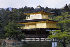Kinkaku-Ji Temple. One of the famous travel destinations in Kyoto, Japan.  Also called the Golden Pavilion Royalty Free Stock Photos