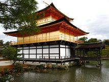 Kinkaku-ji Temple in Kyoto Japan. Kinkaku-ji Temple back side with pond and garden in Kyoto Japan Stock Images