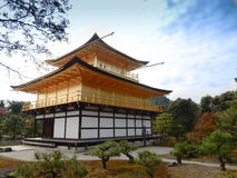Kinkaku-ji Temple. With blue sky Stock Photography