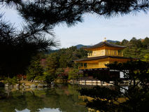 Kinkaku-ji Temple. With blue sky Royalty Free Stock Photography