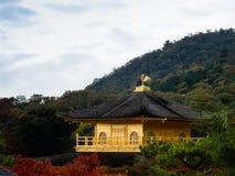 Kinkaku-ji Temple. With blue sky Stock Photos
