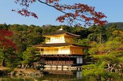 Kinkaku-ji Temple. Fall foliage at Kinkaku-ji temple in Kyoto, Japan. Kinkaku-ji literally means Temple of the Golden Pavilion. This temple is a Zen temple in Stock Images