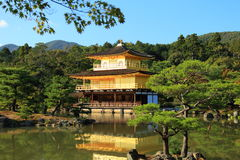 Kinkaku-ji Temple of the Golden Pavilion. Temple of the Golden Pavilion, known a Kinkaku-ji, is a Buddhist Temple and a World Heritage Site in Kyoto, Japan Royalty Free Stock Photography