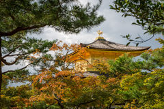 Kinkaku-ji, Temple of the Golden Pavilion in Kyoto. Exterior view of the Golden Pavilion at Kinkaku-ji Temple, also known as Rokuon-ji. Founded in 1397 and Royalty Free Stock Photo
