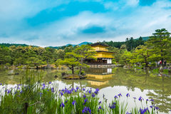 Kinkaku-ji Temple. & x28;The Golden Pavilion& x29; in Kyoto, Japan Stock Photography