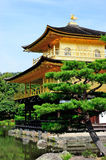 Kinkaku-ji  (Temple of the golden Pavilion) in Kyoto, Japan. The well-known heritage place for tourist in Kyoto, Japan Royalty Free Stock Photos